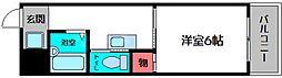 マルニコーポ都島第2 4階1Kの間取り