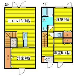 [テラスハウス] 北海道札幌市東区北三十三条東7丁目 の賃貸【/】の間取り