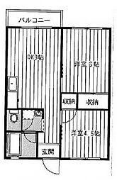 秋元ファミリーハイツ2[2階]の間取り