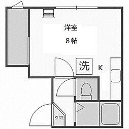 北海道札幌市中央区南四条西16丁目の賃貸アパートの間取り