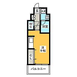アイ・セレブ箱崎浪漫邸[6階]の間取り