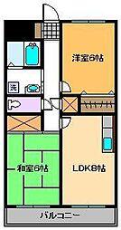 エステート西新井[3階]の間取り