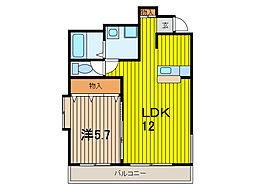 埼玉県さいたま市大宮区桜木町4丁目の賃貸マンションの間取り