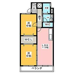 スカーラ江向[2階]の間取り