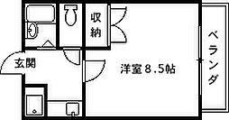 兵庫県西宮市河原町の賃貸マンションの間取り