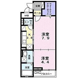 ハートピュア N&T[2階]の間取り