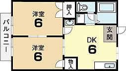 サンレーベ平川B棟[2階]の間取り