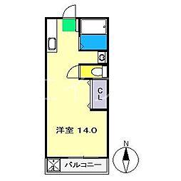 ハイスリー21[4階]の間取り