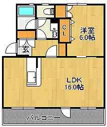浅川団地800棟[101号室]の間取り