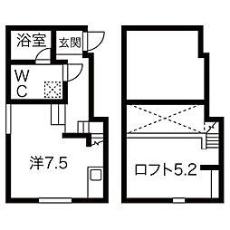 愛知県名古屋市港区港栄4丁目の賃貸アパートの間取り