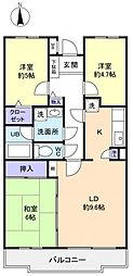 フロイデ勝田台壱番館[1階]の間取り