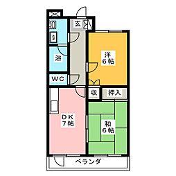 ロベリア[3階]の間取り