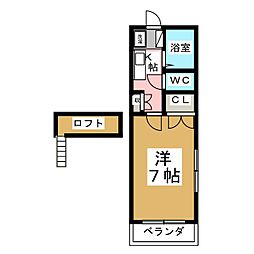 コテージ恵和V[1階]の間取り