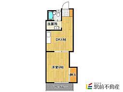 シャトレ鍋島1[2階]の間取り