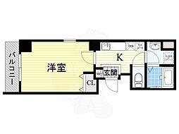 Osaka Metro長堀鶴見緑地線 松屋町駅 徒歩6分の賃貸マンション 8階1Kの間取り