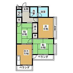 小栗マンション[2階]の間取り