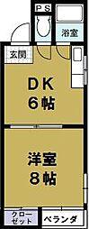 デイズハイツ八幡屋2[2階]の間取り