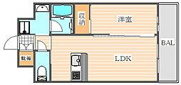 ラファセグランビア博多[5階]の間取り