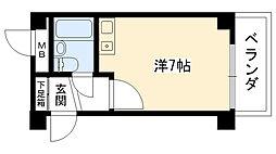リッチライフ甲子園III[201号室]の間取り