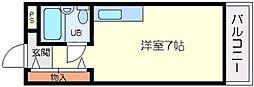 ハイツ衣笠[1階]の間取り