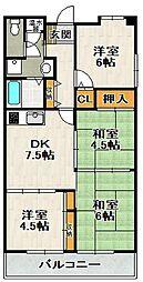 グリーンコート宝塚[2階]の間取り