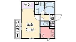 プラージュ武庫川[B106号室]の間取り