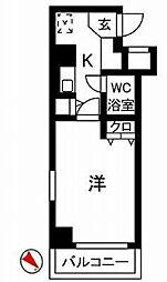 神奈川県川崎市川崎区本町1の賃貸マンションの間取り