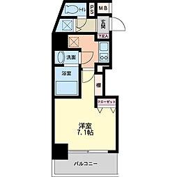 パシフィックレジデンス神戸八幡通[0202号室]の間取り