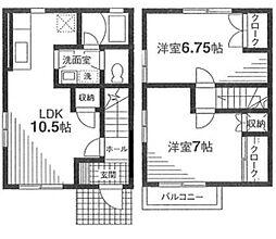 [テラスハウス] 神奈川県川崎市幸区小向西町3丁目 の賃貸【/】の間取り