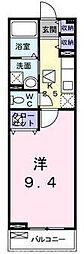 大阪府枚方市東山1の賃貸アパートの間取り