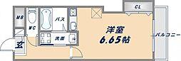 ルミエール新今里[7階]の間取り