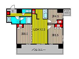 ノルディック川口元郷[7階]の間取り