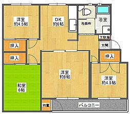 千里山ハイツ[3階]の間取り