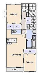 Maison en bois (メゾン オン ボワ)[101号室]の間取り