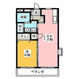 シャトー豊田[3階]の間取り