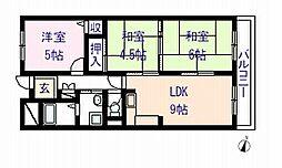 ライオンズマンション和歌山田中町[1階]の間取り