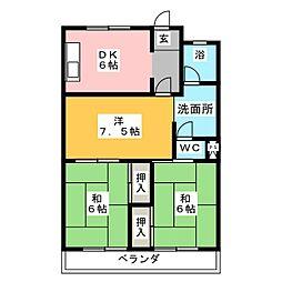 ラフォーレ若竹[1階]の間取り