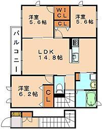 モータシア原町[2階]の間取り