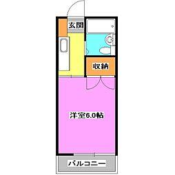 東京都西東京市ひばりが丘北3丁目の賃貸アパートの間取り