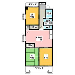 第3横吹小菅ビル B棟[1階]の間取り