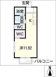 サンライズ A[1階]の間取り