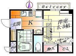 フォルム千里丘[2階]の間取り