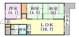 メゾン三田赤坂[2階]の間取り
