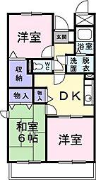 愛媛県松山市保免西2丁目の賃貸マンションの間取り