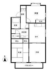 コーポKOBAYASHIII[106号室]の間取り
