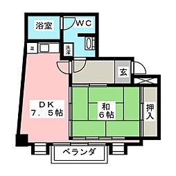 第1田口ビル[8階]の間取り