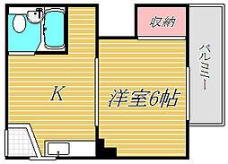 マンション竜宮[3階]の間取り