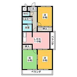 パラッツオT.H[3階]の間取り