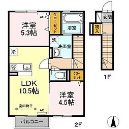 仮)D-room湊高台[2階]の間取り