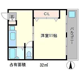 コーポ大鷺[2階]の間取り